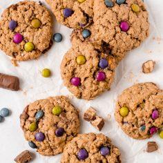 Candy Bar Monster Cookies (Gluten-Free)