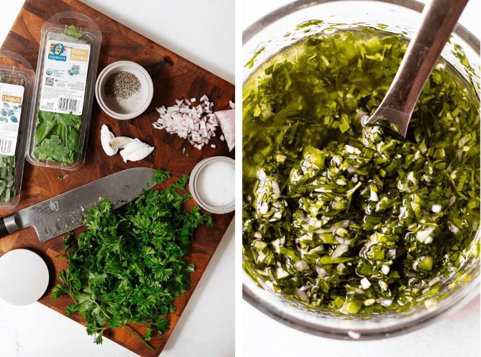 Ingredients for Grilled Chimichurri Chicken Thighs