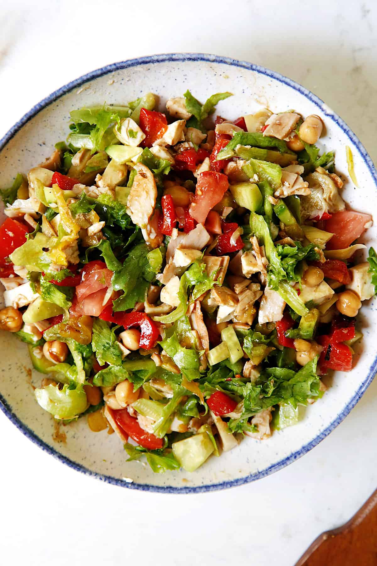 chopped salad tossed ready to eat